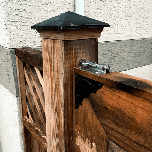 Gate and top latch.